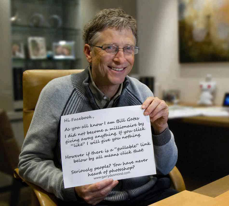 Bill Gates Giveaway Funny Photos